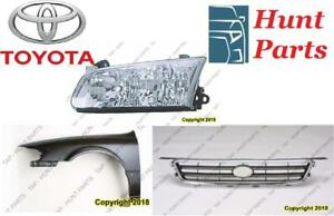 Toyota Corolla 1988 1989 1990 1991 1992 CV Axle Joint Catalytic Converter Door Mirror Fender Headlamp Head Lamp Light