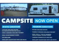 Caravan Campsite Statics, Touring & Caravan Storage South Lanarkshire near Lanark. Ideal for workers