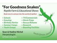 LIVE EDUCATIONAL REPTILE SHOW'S