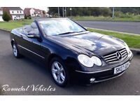 IMMACULATE 2007 Mercedes CLK 320 Avantgarde auto CONVERTIBLE, Black, Light grey Lthr, hist & Mot !!