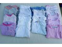 Baby girl 3-6 months sleepsuits and vests bundle