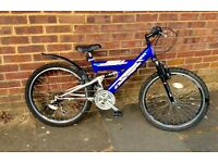 2 x Mountain Bikes 10 - 14 year olds 24 inch wheels
