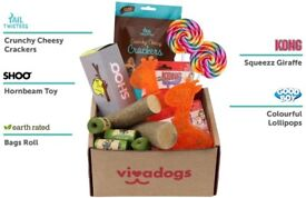 Vivadogs dog treat and toy subscription box - HALF PRICE, NEVER USED! only £10!