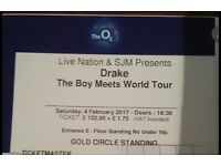 x3 Drake Tix @ the O2 London !!! GOLD CIRCLE STANDING!!!PREMIUM PLATINUM TICKETS