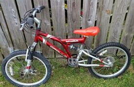 Apollo Scrambler Full Suspension Mountain Bike Children's Size.
