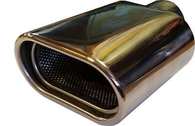 Citroën Saxo 120X70X180MM OVAL POSTBOX EXHAUST TIP TAIL PIPE CHROME WELD