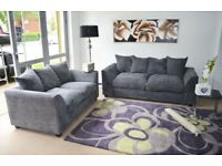 FREE DELIVERY NEW CORNER OR 3 + 2 SEATER SETTEE COUCH SOFA FABRIC OR LEATHER BLACK GREY BROWN CHEAP