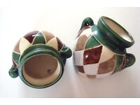 Pair Italian Ceramic Wall vases
