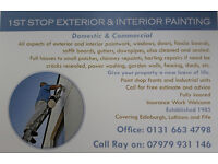 1st stop exterior & interior painting , Domestic & Commercial