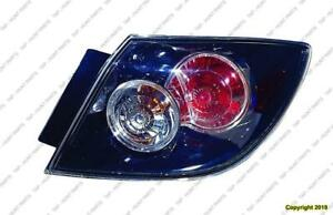 Tail Light Passenger Side Hatchback Std High Quality Mazda 3 2007-2009