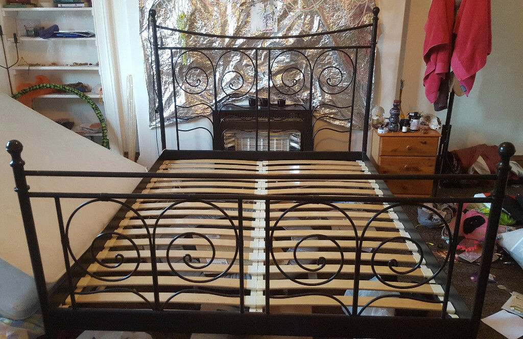 IKEA Black Wrought Iron Super King Bed-frame | in Sciennes ...