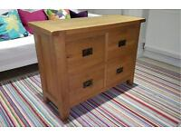 Vancouver Solid Oak Petite 4 Drawer Storage Chest / Chest of Drawers