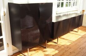 Designer dark brown wooden storage furniture set/units in great condition/Very high quality material