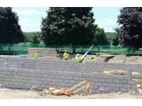 Bricklayers and labourers wanted