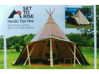 Set To Rise, Tipi Tent and Bar