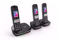 BT8500 Enhanced Call Blocker Cordless Phone Triple Handsets