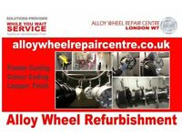 Alloy Wheel Refurbishment& Diamond Cut Wheel FREE LOAN WHEEL Sevice LondonW7 Tel02085671713