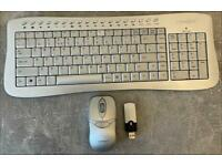 Advent wireless qwerty keyboard, mouse and transmitter.