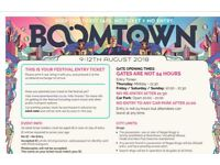 Selling my Boomtown 2018 ticket as I was denied holiday from my work :( Selling for less than bought