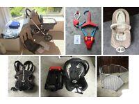 Baby Bundle - Bugaboo Pram/Buggy, Car Seat, Playpen, Baby Carrier, Bouncer/Rocker and Door Bouncer