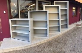 Large selection of Bisley tambour storage cabinets c/w key delivered to Belfast