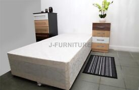 NEW 3 x Single Divan Bed Base's to clear just £35 each - headboards £15 - free delivery -uxbridge