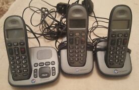BT Freelance Trio Cordless Phone with Answering Machine - 3 Handsets