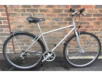 17 inch Classic Silver hybrid City road bike bicycle with mudguards