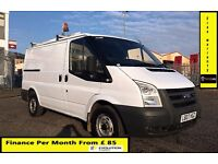 Finance- £85 P/ M-Ford Transit Low Roof SWB Van 2.2 300 -70k - 1 Owner- XBt - FSH- 1YR MOT - 260 280