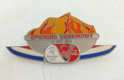 2000 Sydney Olympic opening ceremony pin badge COCA-COLA RARE LARGE