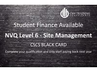 Student Finance - CSCS BLACK CARD - NVQ Site Management Level 6 (degree level)