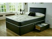 Double bed devan set with memory or orthopaedic mattress
