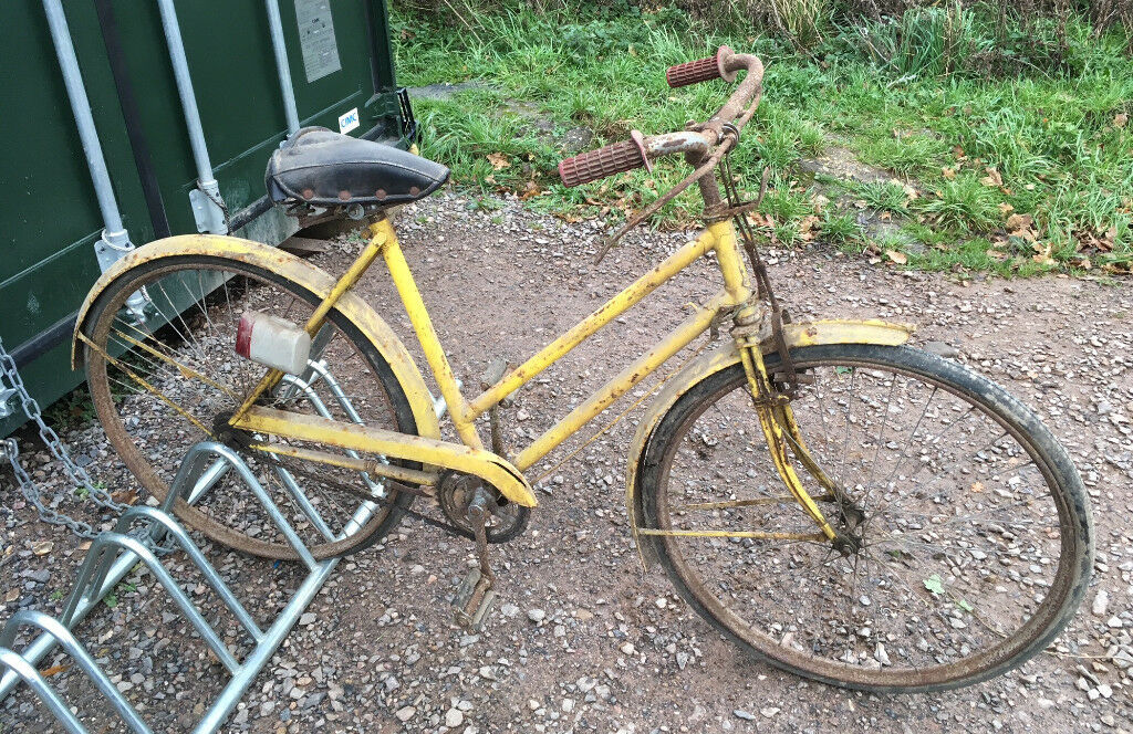 Vintage Humber Ladyu0027s Bike With Unusual Duplex Forks, Garden Ornament