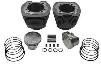 "Silver 107"" Twin Cam Big Bore Cylinder and Piston Kit For Harley TC-88 2000-2006"