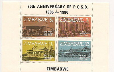 ZIMBABWE Souvenir stamps,,'75th Anniversary of P.O.S.B...1905-1980.. #A74