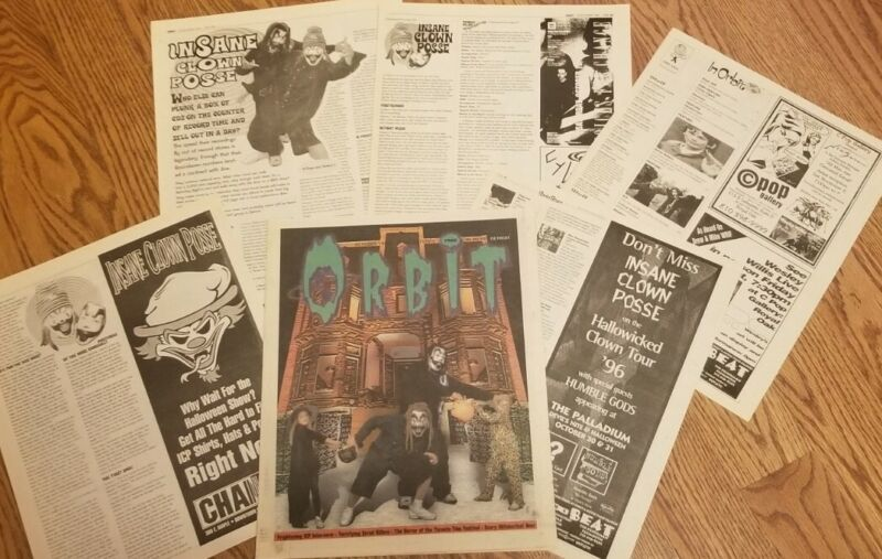 Insane Clown Posse - Orbit Oct 1996 Hallowicked Newspaper Pieces Ad Flyer ICP