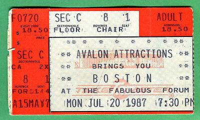 "7/20/87 ""BOSTON"" CONCERT TICKET STUB @ LA FORUM"