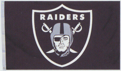 Oakland Raiders Huge 3' x 5' NFL Licensed All Pro Flag / Banner - Free Shipping for sale  Fenwick