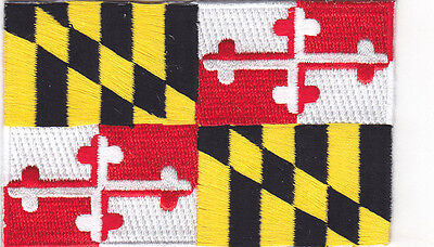 MARYLAND STATE FLAG Iron On Patch Flag of Maryland