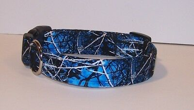 Wet Nose Designs Undertow Camouflage Dog Collar Lifestyle Camo Blue Black Gray Camouflage Dog Collar Collars