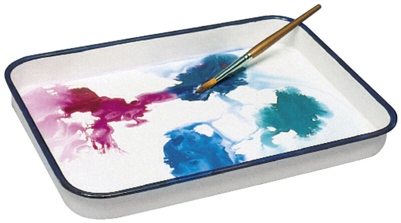 Jack Richeson Butcher Tray Palette, 7-1/2 x 11 in, Porcelain On Steel, White