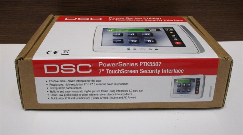 """DSC PTK5507 PowerSeries 7"""" TouchScreen KYPD Security Interface NEW"""