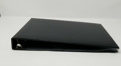 Business Check Book Binder Holder Checkbook Cover Black Vinyl 7 Ring 3 On A Page