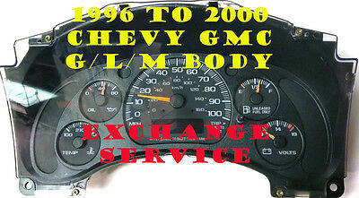 2002 TO 2007 CHEVY EXPRESS VAN INSTRUMENT PANEL CLUSTER REPAIR SERVICE $50
