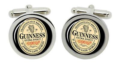 Guinness Manschettenknöpfe in Chrom Kiste