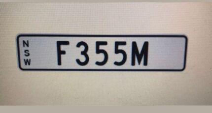 Ferrari F355 number plate