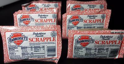 Habbersett or Rapa Scrapple 16 ozs (6 Packs) 6lbs Pounds Breakfast Meat