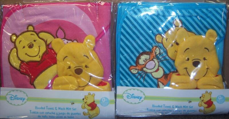 NEW WINNIE THE POOH HOODED TOWEL WITH WASH MITT, Baby Shower