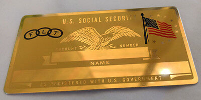 FLT Odd Fellows US Social Security Metal Card Tag NOS VTG Perma Products​
