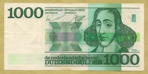 Netherland Países Bajos Nederland NIEDERLAND Holland 1000 GULDEN 1972 XF ESCASO